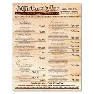 Promotional Menu/Menu Covers-20013501