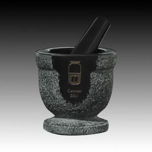 Black genuine marble pestle