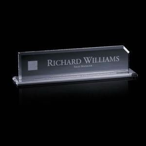 Worchester - Desk nameplate.