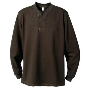 4XL - Men's Henley.