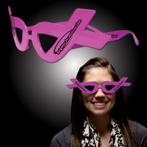 Pink ribbon sunglasses.