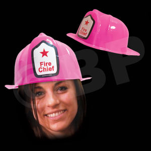 Pink plastic novelty fire-fighter