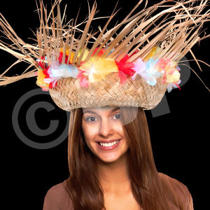 Beachcomber hat with flower