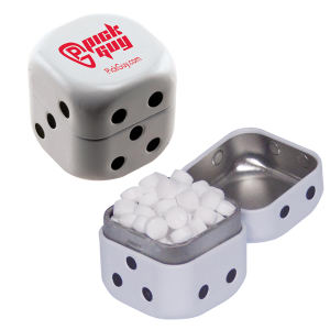 Dice shaped white mint