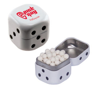 Promotional Dental Products-DICE-TIN-MINTS