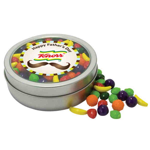 Circular rim tin with