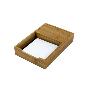 Bamboo note pad holder.