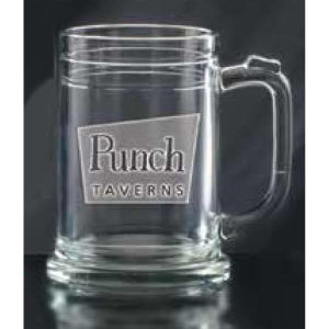 15 oz glass tankard.