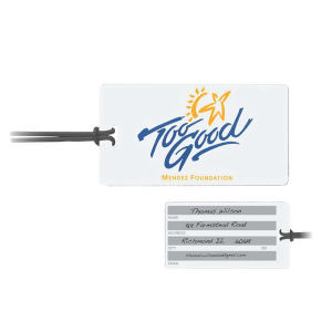 Rectangle luggage tag features