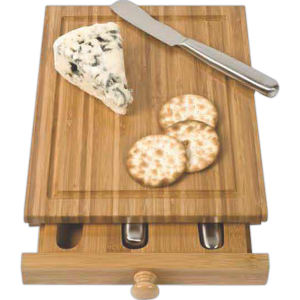 Bamboo cheese tools case