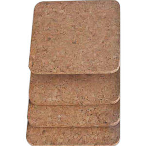 Cork coaster. Square. Set