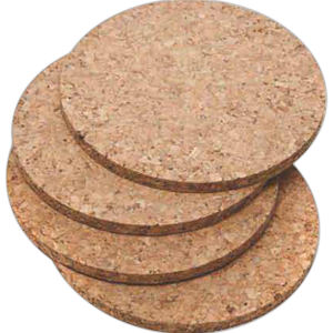 Cork coaster, round. Set