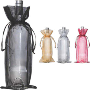 Organza wine gift bag.