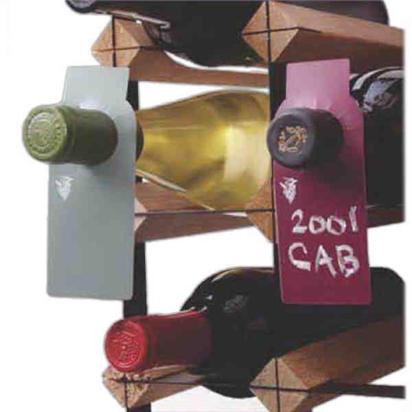 Chalkboard wine bottle tags.