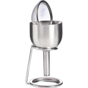 Stainless steel decanting funnel