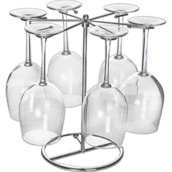 Six wine glass drying
