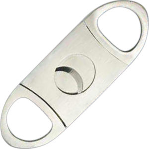 Stainless steel cigar cutter.