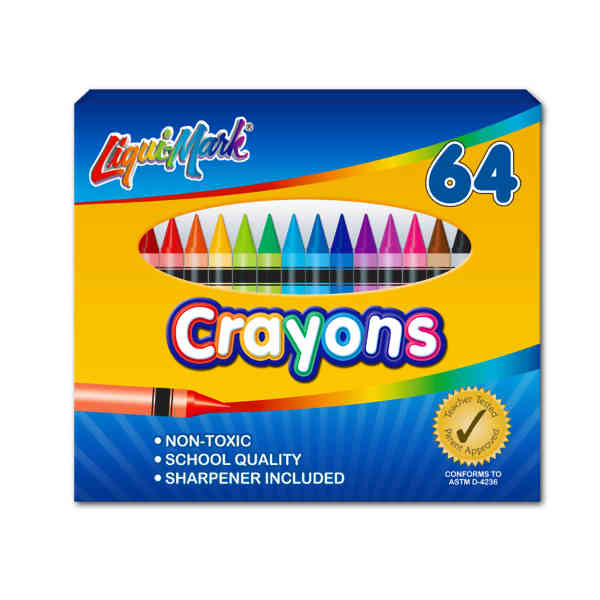 64 Pack Crayons with