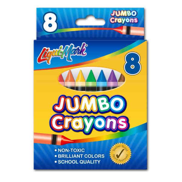 8 Pack Jumbo Crayons