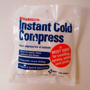 Cold compress. Blank.