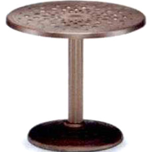 Round cast aluminum table