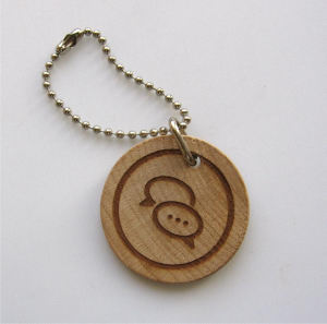 Promotional Wooden Key Tags-EWKC
