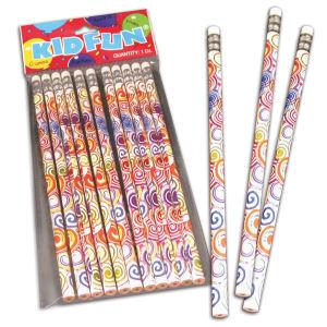 Psychedelic tie dye pencils,