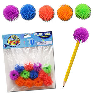 Hedge ball pencil toppers,