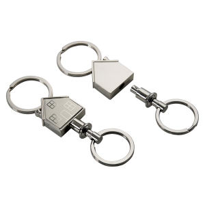 House shape key ring.