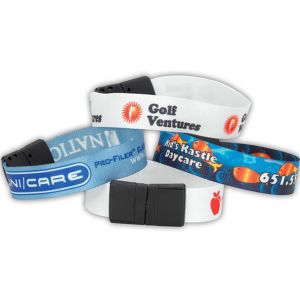 Sublimated recycled wristband. 100%