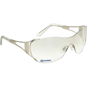 Wraparound sunglasses with silver