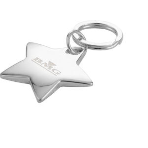 Star shaped chrome plated