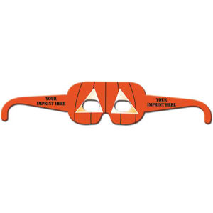 Preprinted rectangular pumpkin glasses