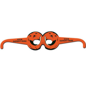 Preprinted round pumpkin glasses