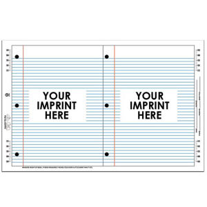 Lined notebook paper stock