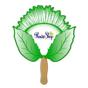 Sunflower shaped fan made