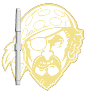 Pirate shaped dry erase