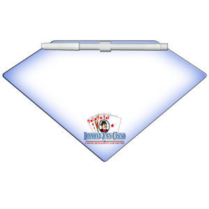 Diamond shaped dry erase