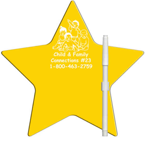 Star shaped dry erase