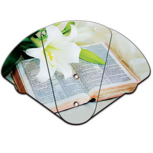 Bible themed expandable fan,