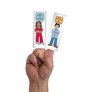 Finger puppet.