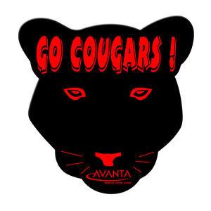 Cougar shaped hand fan