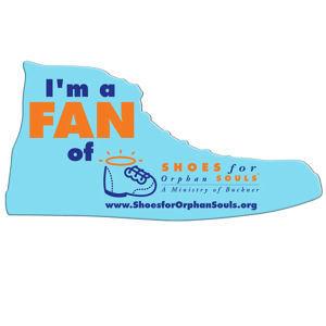 Shoe shaped hand fan