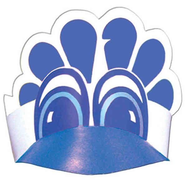 Peacock visor made from