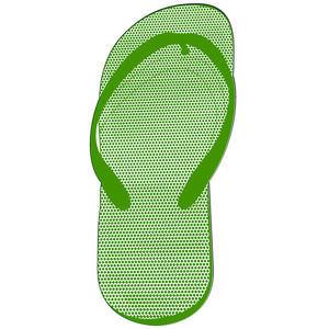 Flip flop shape paper
