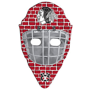 Hockey mask shape paper