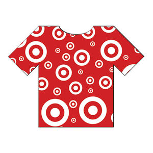 T-Shirt shape paper window