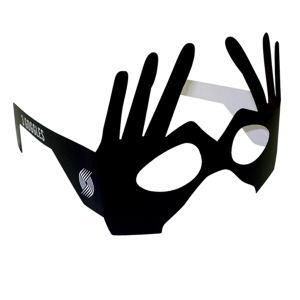 Finger glasses masks.
