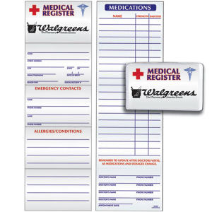 Medical register card made