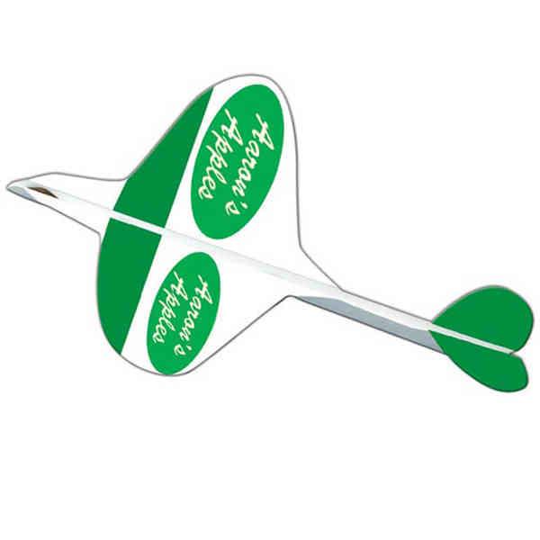 Elliptic paper airplane pre-creased
